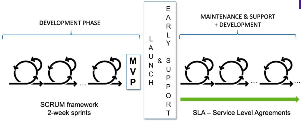 Przejście z fazy wytwarzania produktu w fazę utrzymania i rozwoju